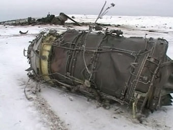 Кадр с места крушения Ил-76 в Якутии. Кадр телеканала