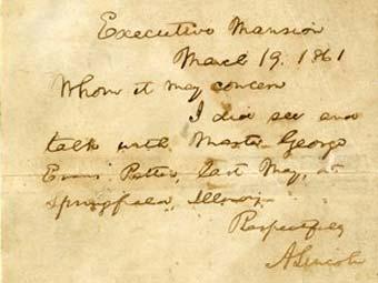 Письмо Авраама Линкольна школьникам. Фото ©AP