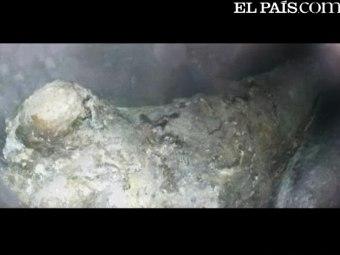 Мумия Педро III Арагонского. Кадр видеозаписи с сайта El Pais