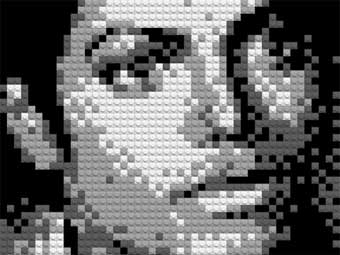 Фрагмент портрета Майкла Джексона из LEGO. Изображение с сайта gigwise.com