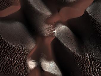 Замерзшие дюны. Фото NASA