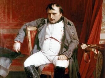 Наполеон Бонапарт после отречения во дворце Фонтенбло. Фрагмент картины кисти Поля Делароша