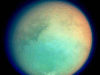 Титан. Фото NASA/Cassini