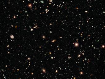 Снимок удаленных галактик. Фото NASA