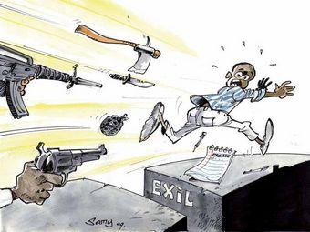 "Карикатура с сайта ""Репортеров без границ"""