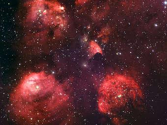 Туманность Кошачья Лапа. Фото ESO