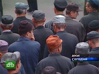 Заключенные в колонии. Кадр телеканала НТВ, архив