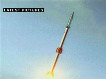 Пуск иранской ракеты-носителя. Кадр видеозаписи, переданный ©AFP