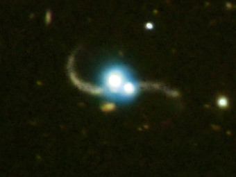Двойной квазар SDSS J1254+0846. Фото NASA/CXC/SAO/P, Carnegie Obs./Magellan/W.Baade Telescope