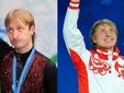 Обладатель серебра Игр-2010 Евгений Плющенко (слева) и бронзовый призер Иван Скобрев. Фото (c)AFP