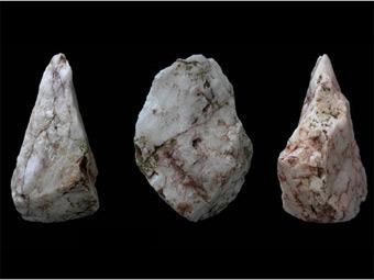Ашельские орудия труда, найденные на Крите. Фото авторов исследования с сайта The New York Times