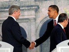Обама проспорил канадскому премьеру ящик пива