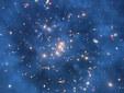 Вероятное кольцо темной материи в галактическом скоплении Cl0024+17. Фото ESA\NASA\Hubble
