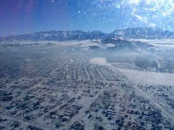...в 75 километрах к юго-востоку от Бишкека, сообщает...