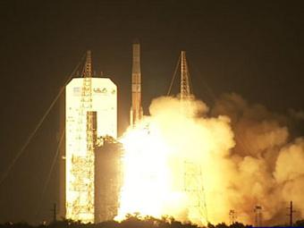Запуск спутника  GOES-P. Кадр NASA-TV