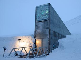 """Хранилище """"Судного дня"""". Фото Mari Tefre/Svalbard Global  Seed Vault с сайта regjeringen.no"""