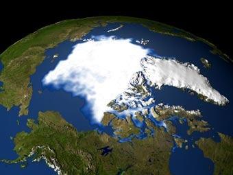 Арктический регион. Изображение с сайта nasa.gov