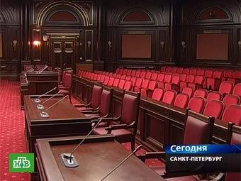 Зал заседаний Конституционного суда РФ. Кадр телеканала НТВ
