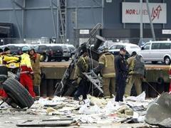 В Осло товарный поезд врезался в здание