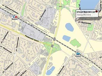 Муромская улица на карте с сайта nakarte.ru