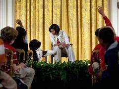 Мишель Обама провела встречу с детьми в Белом доме