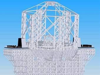 Компьютерная модель E-ELT. Фото ©AFP