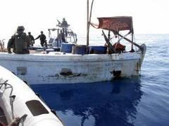 Французский корабль потопил базу сомалийских пиратов