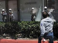 В Греции начались столкновения демонстрантов с полицией