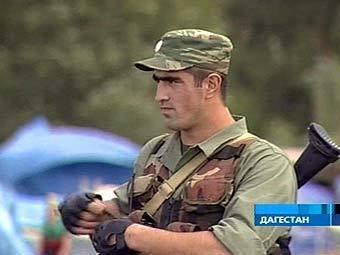 Сотрудник МВД Дагестана, кадр Первого канала, архив
