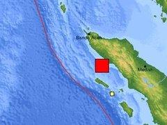 У побережья Суматры произошло сильное землетрясение