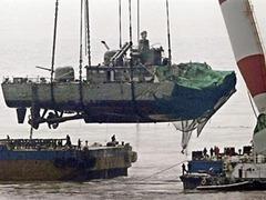 На обломках затонувшего корейского корвета нашли следы взрывчатки