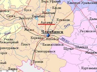 Аргаяш на карте с  сайта mojgorod.ru