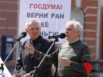 """Ученые на митинге в Петербурге. Фото Вадима Аванесова, """"БалтИнфо"""""""
