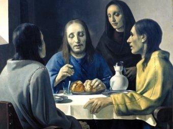 """Христос в Эммаусе"" ван Меегерена, фрагмент"