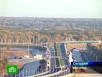 Мост в Волгограде. Кадр телеканала НТВ