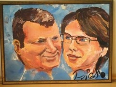 Австралийский художник написал портрет мэра Риги пенисом