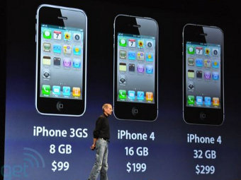 Цены на iPhone 4, фото с сайта Engadget