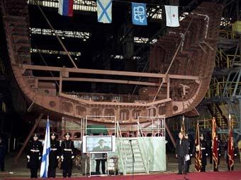 Закладка корабля на Северной верфи. Фото с сайта предприятия
