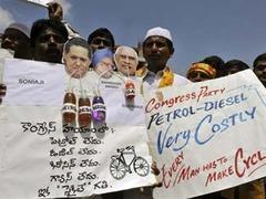 Индийская оппозиция выступила против роста цен на бензин