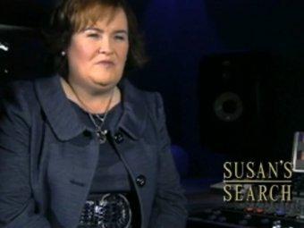 Кадр из обращения Сьюзан Бойл к участникам конкурса