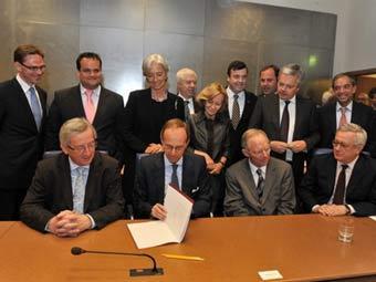 Министры финансов в ЕС на встрече в Брюсселе. Фото ©AFP