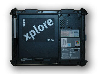 Планшет Xplore iX104C4HD. Фото с сайта tabletpcreview.com