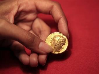Найденная в Израиле монета. Изображение ©AP