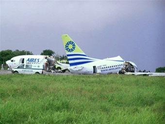 В Колумбии молния разбила Боинг-737 на части