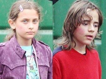 Дети Майкла Джексона впервые посетили школу
