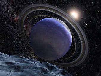 Планета HR 8799b глазами художника. Изображение NASA/ESA/G. Bacon