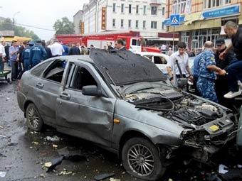 Место взрыва во  Владикавказе. Фото ©AFP