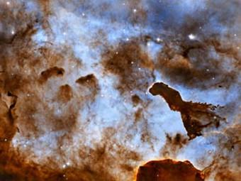 Туманность Киля. Фото Hubble