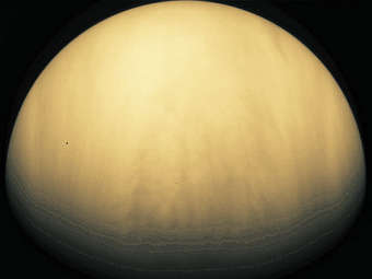 Венера, сфотографированная аппаратом Galileo. Изображение Galileo Spacecraft, JPL, NASA