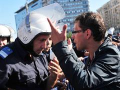 Румынская полиция устроила марш протеста